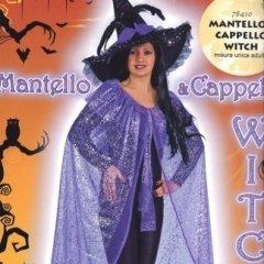 mantello e cappello strega, witch, costumi di vario genere