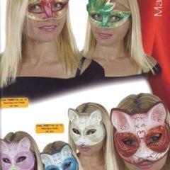 maschera gatta e con petali, maschera felino, personaggio mostruoso