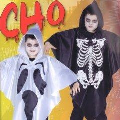 mantelli stampati per bambini, scheletri torace, facce fantasma