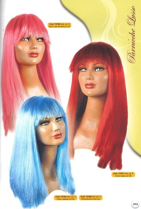 parrucche lusso colori assortiti