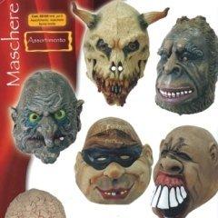 assortimento maschere faccia brutta, ampio assortimento, carnevale