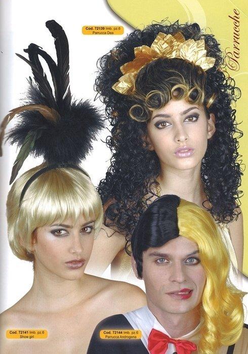 parrucche dea showgirl androgena