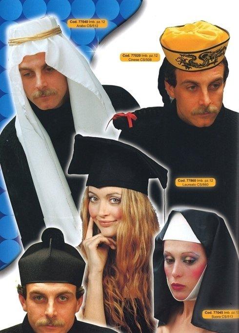 cappello arabo-cinese-laureato-suora-prete