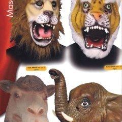 maschere animali, maschera leone, maschera elefante