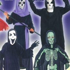 costumi scheletro bambini, fantasma, abiti preconfezionati