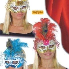 maschera lady pavone, ampio assortimento di colori, personaggio donna
