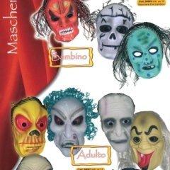 maschere mostri adulto e bambino, ampio assortimento maschere, maschere da carnevale
