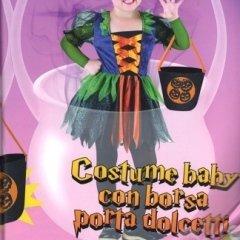 costume baby halloween con sacchetto, costume spaventoso, costume per bimbi