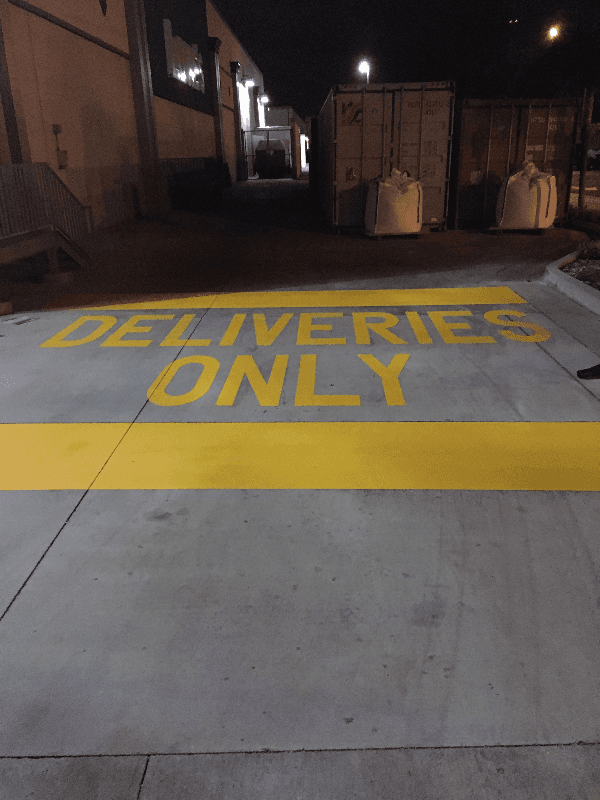 deliveries only | pavement marking | honolulu, hi