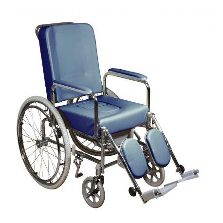 Sedia a rotelle blu