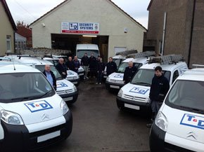 Security cameras - Bathgate, West Lothian - T & D Security Systems  - Van