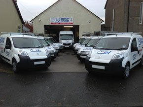 Security cameras - Bathgate, West Lothian - T & D Security Systems  - With van