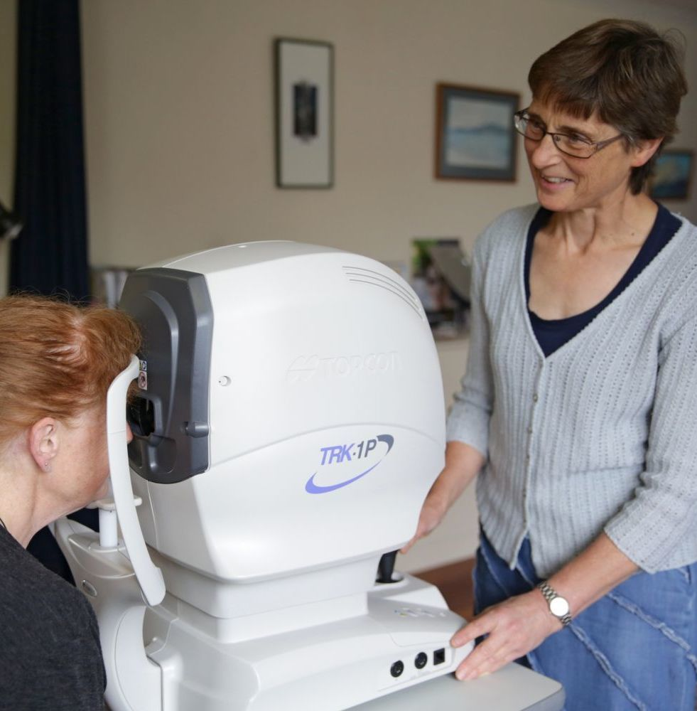 Woman receiving eye examinations at our South Westland clinic