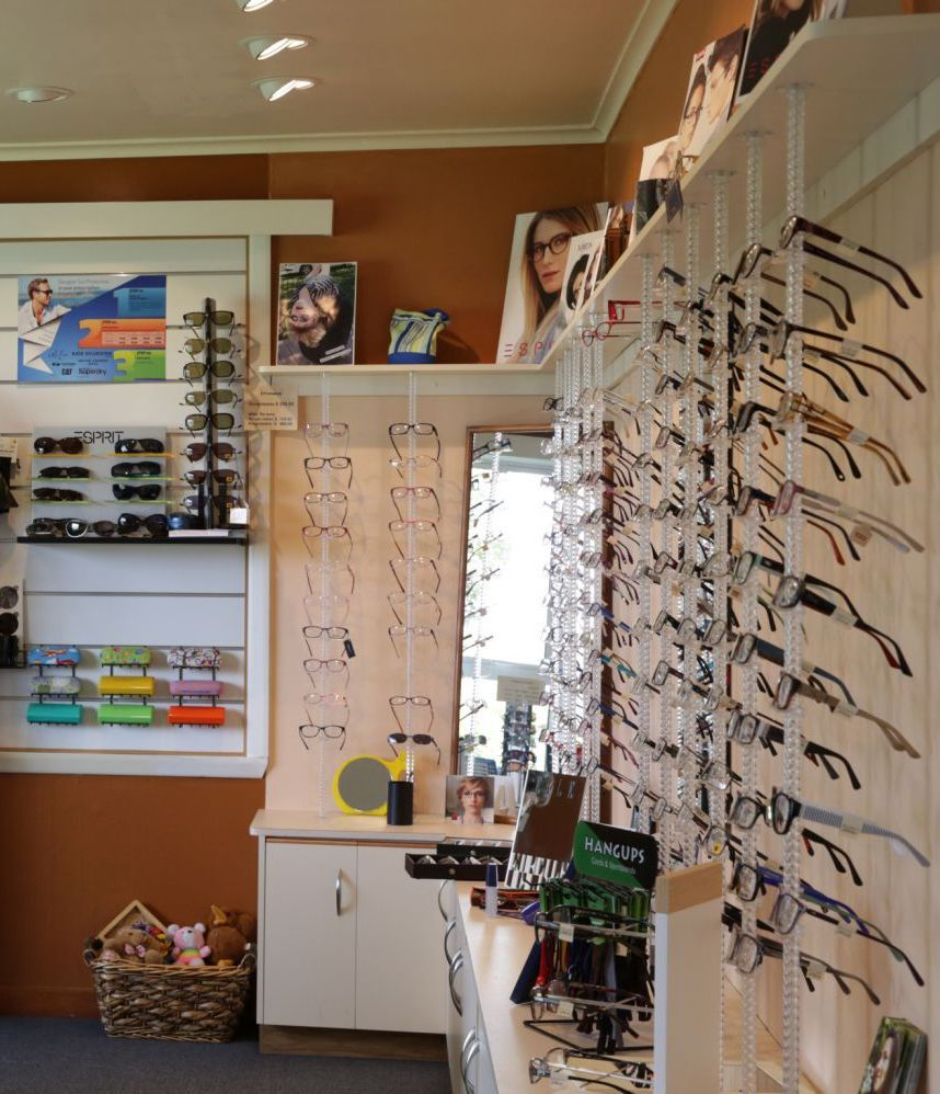 Inside our eyewear store in South Westland