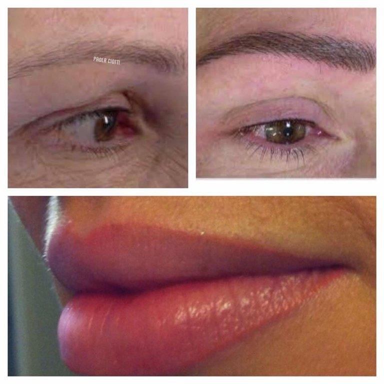 contorno labbra, sopracciglia e eyeline