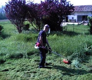 attrezzatura per manutenzione giardini