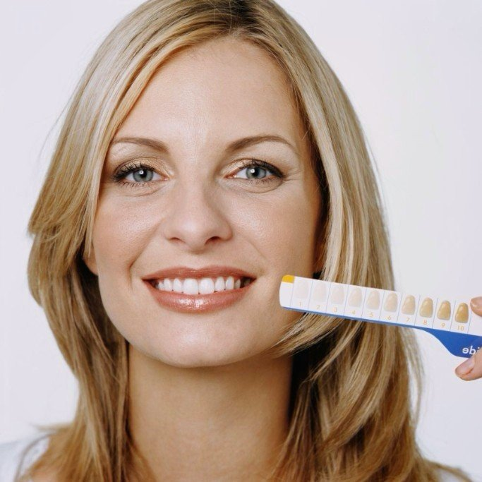 A woman that just had teeth cleaning in Kailua, HI