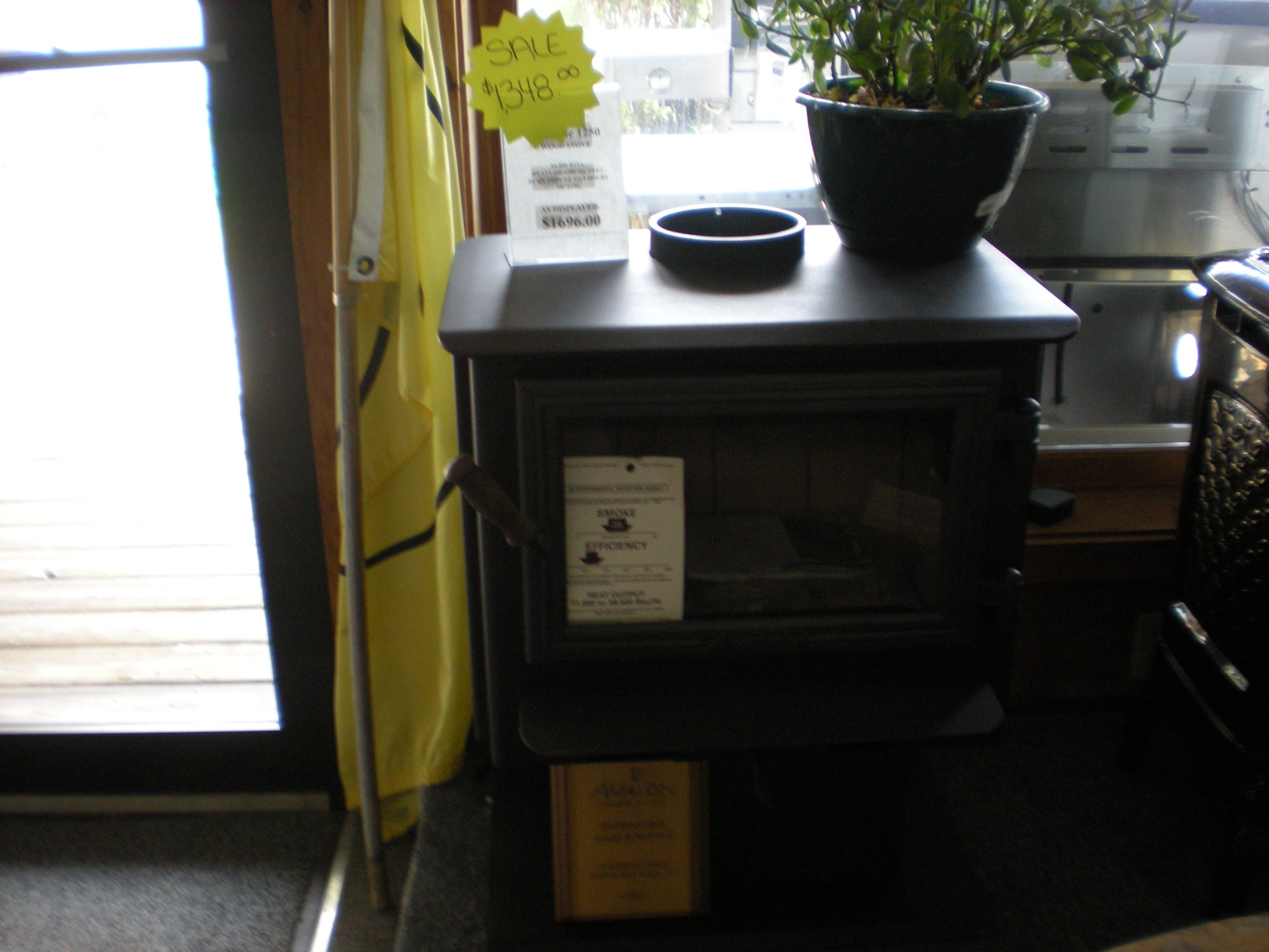 Avalon Spokane 1250 Wood Stove On Pedestal. Normally.....$1650.00  Now.....$1300 New Out Of Box.