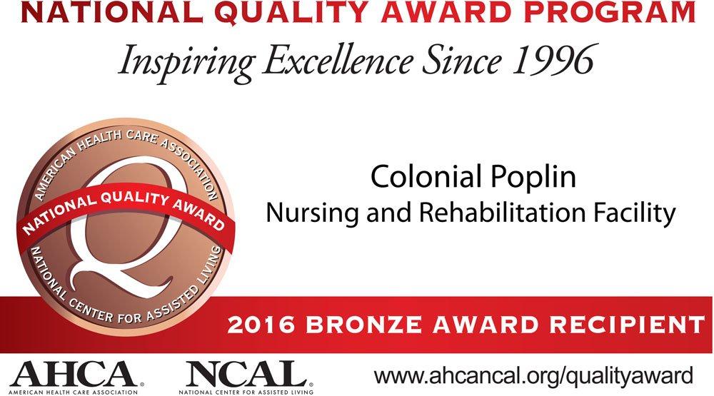 2016 Bronze National Quality Award