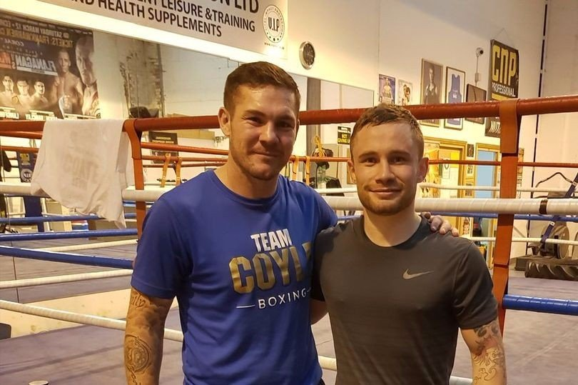 Carl Frampton with new trainer Jamie Moore