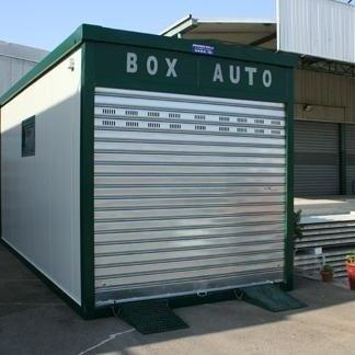 box auto completo di serranda d