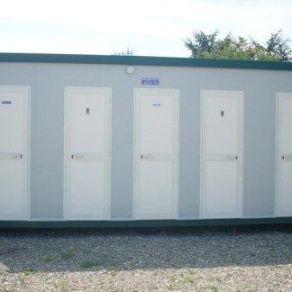 prefabbricato da cantiere per uso ufficio tecnico con WC singolo