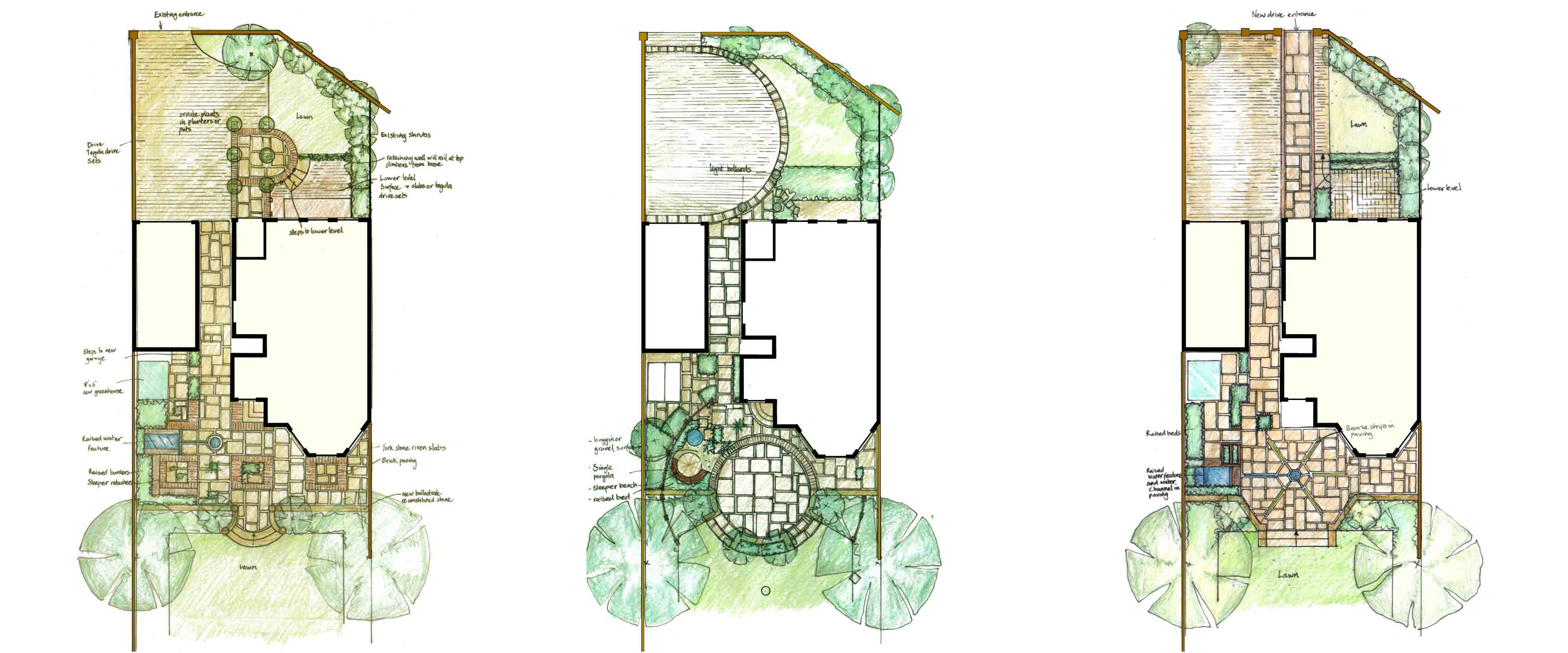 garden design construction drawings - Garden Design Drawing