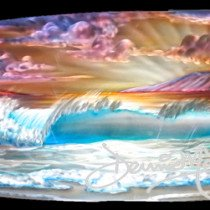 Metal surfboards by Hawaii Artist DennisMathewson Original Art Only. For more information or higher quality images of this original contact your DM sales consultant. Copyright Dennis Mathewson 2015 and information about this original artwork by Dennis Mathewson copyright all rights reserved 2015.