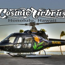 These Helicopter was painted by Dennis Mathewson for Makani Kai Helicopter tours over Hawaii