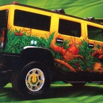 This Hummer was painted by Dennis Mathewson and  was the winner of the Prestigious painter of the year award from House Of Kolor