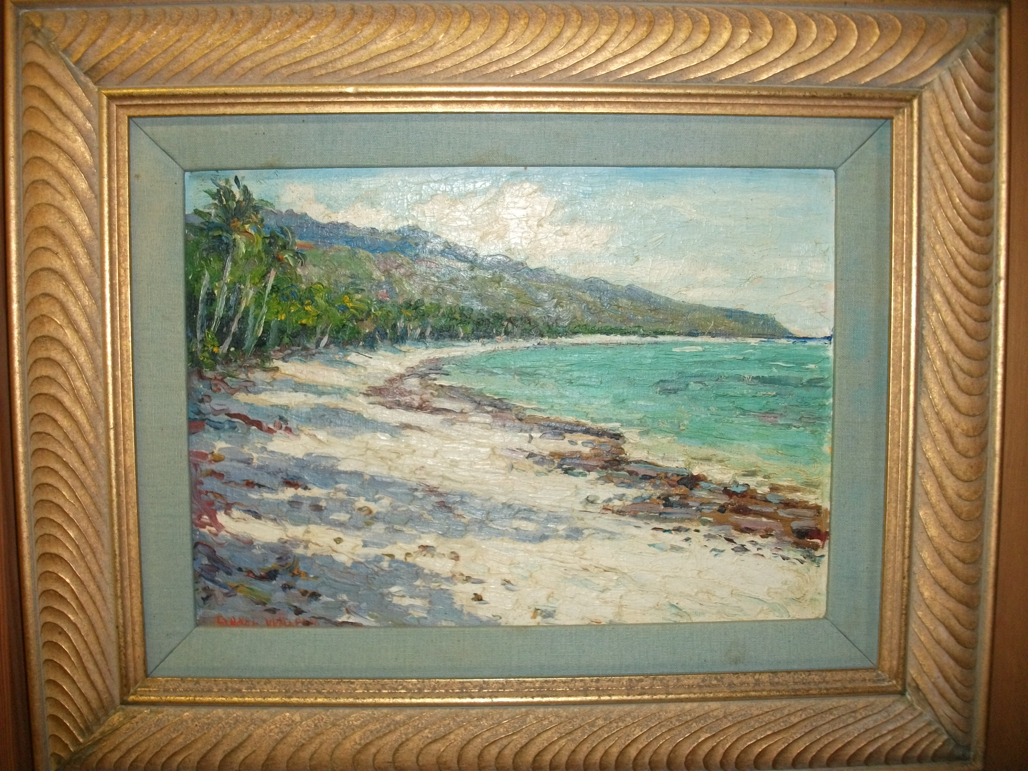 painting being appraised in Kailua, HI
