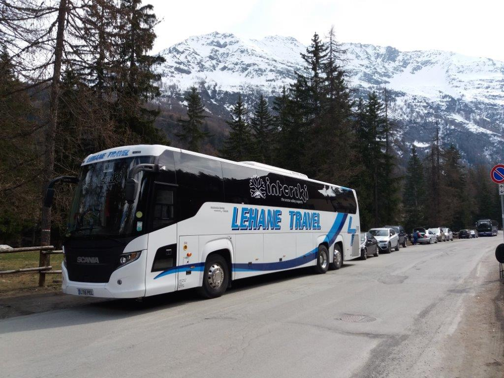 front view of the bus