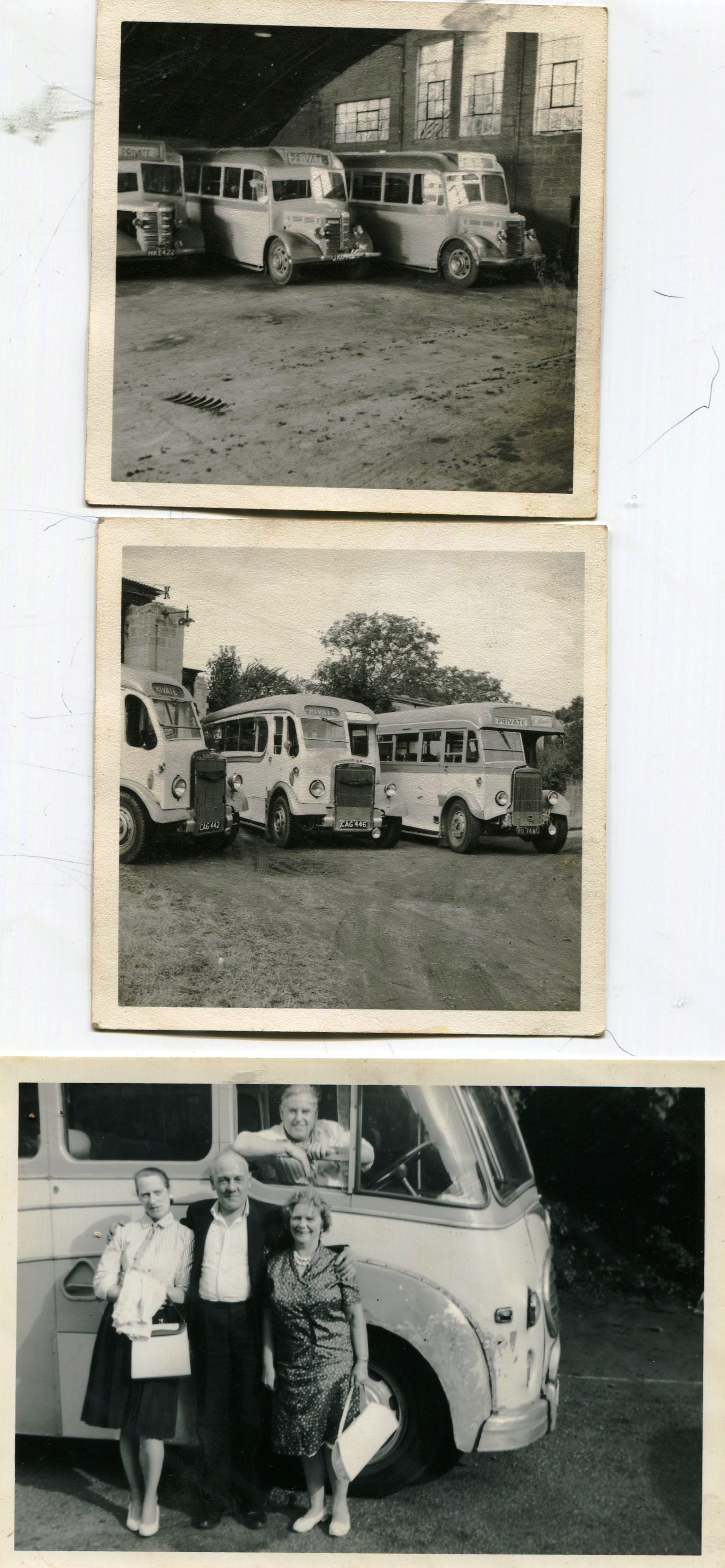 black and white image of bus