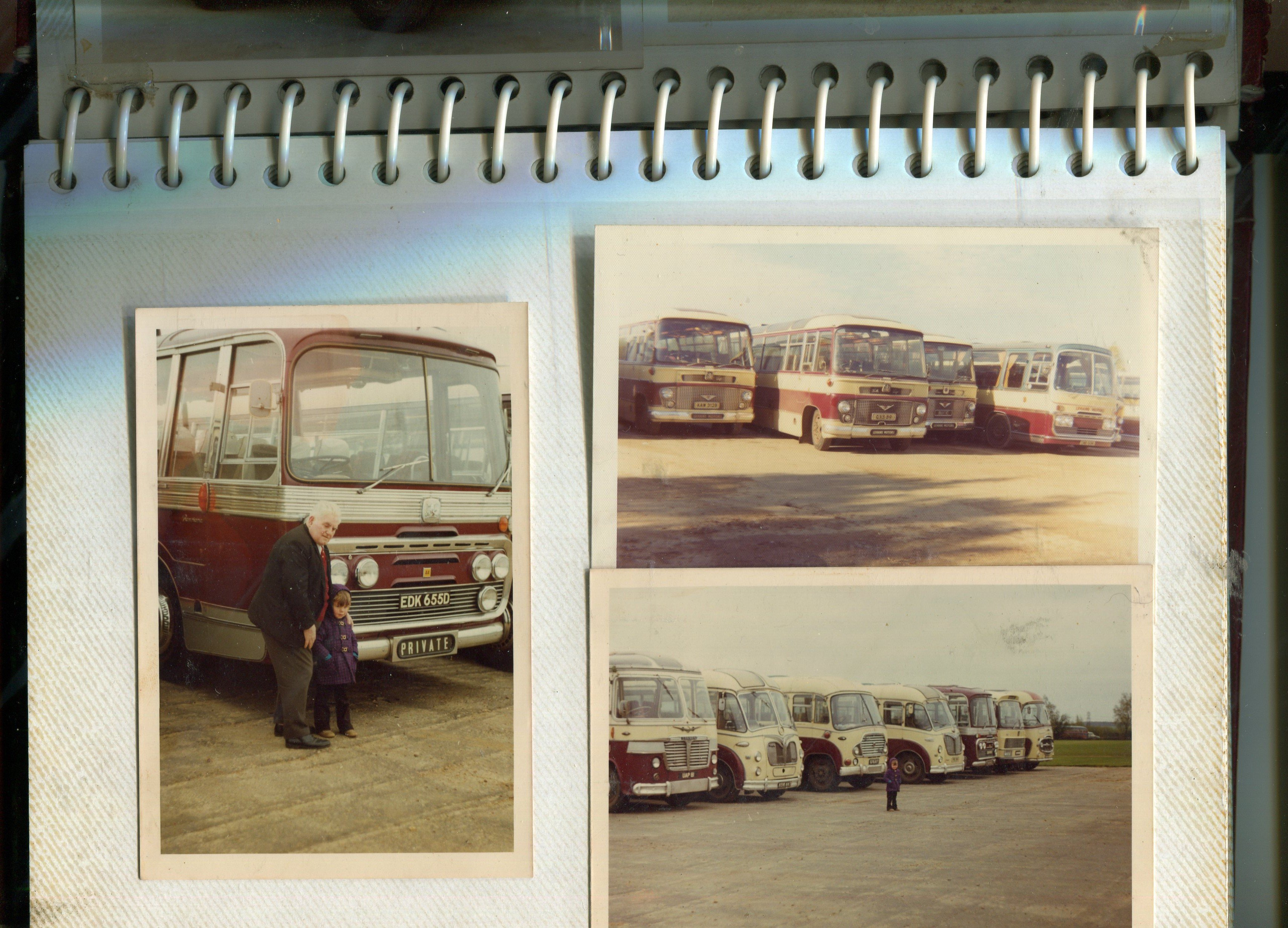 red coloured vintage bus