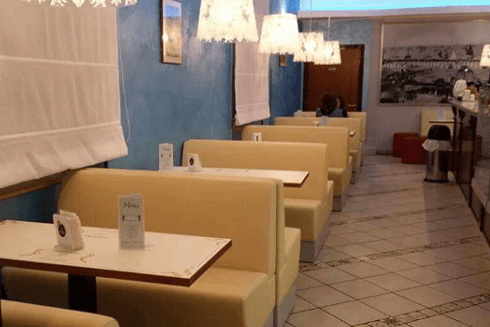 sala interna, pasticceria Romani