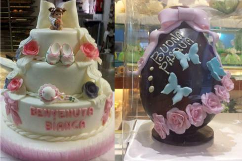 torta, uovo di pasqua, decorazioni