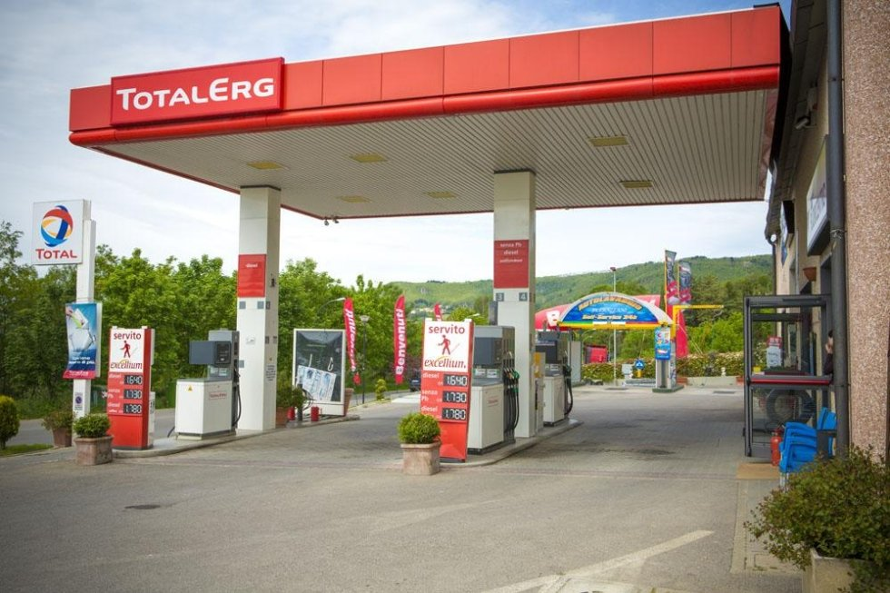 benzinaio Total Erg