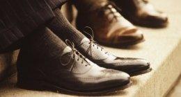 scarpa classica, scarpa con impunture, calzatura modello classico