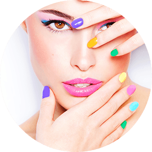Makeup multicolore