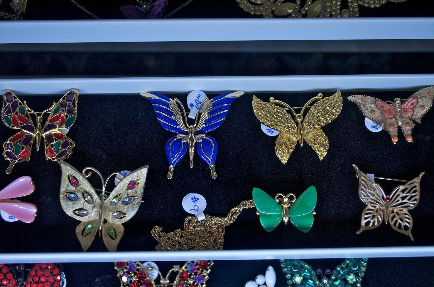 Butterfly Pendants Vintage