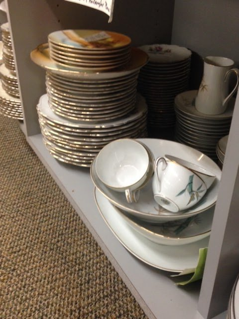 Vintage Plates and Glassware