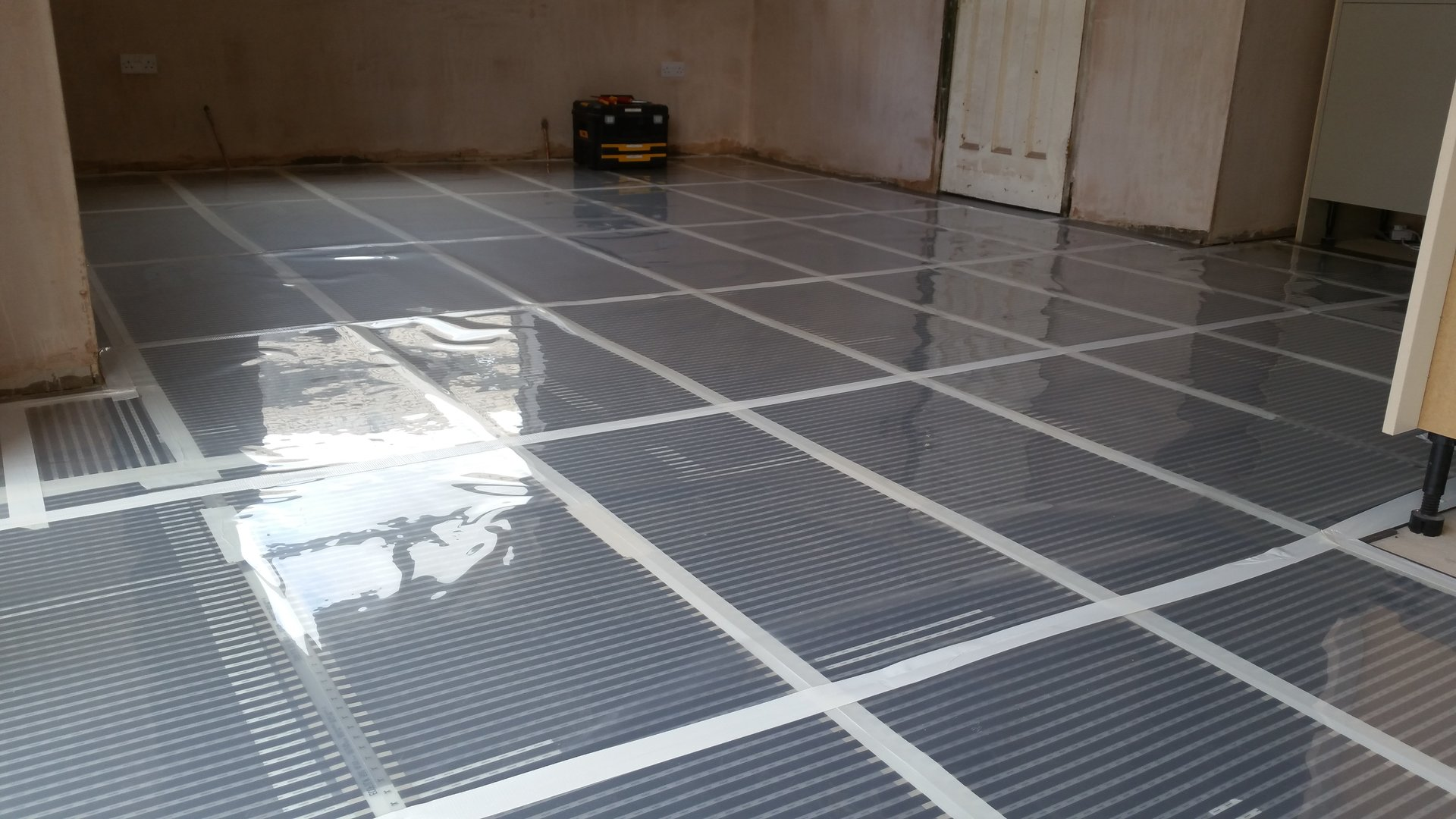 Electric underfloor heating installed by AJOB Electrical Ltd electrician in Leeds