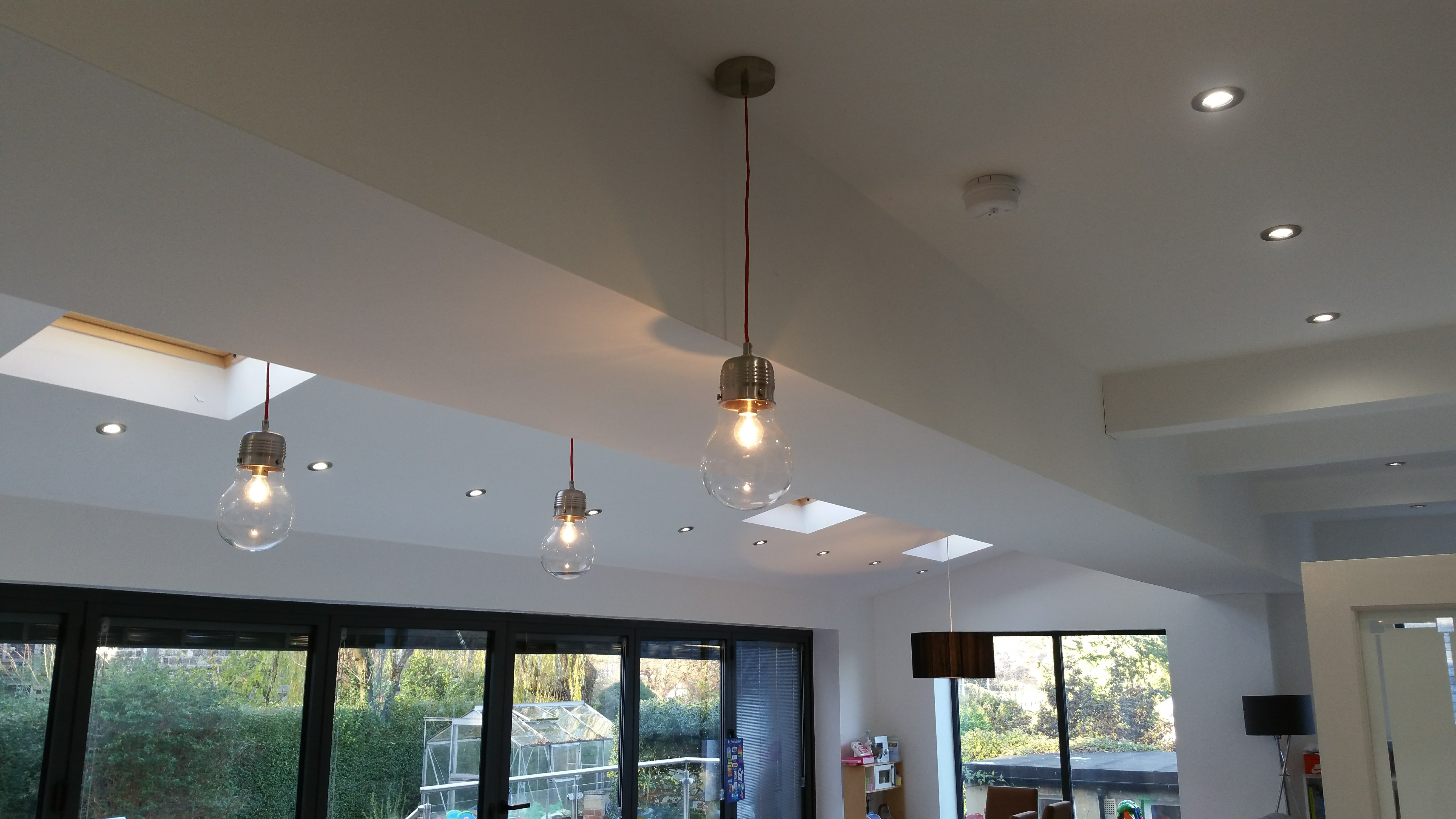 Domestic lighting installed by AJOB Electrical Ltd electrician in Leeds