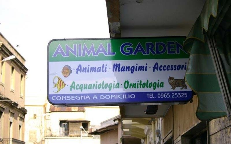 insegne per negozi di animali