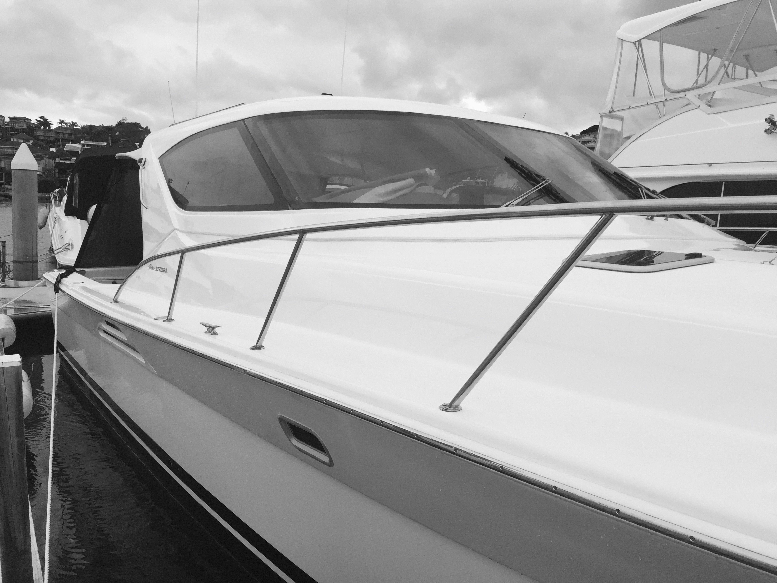 Luxury Boat Detailing and Polishing in Sylvania Marina, Sydney