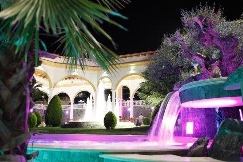 Le fontane in notturna