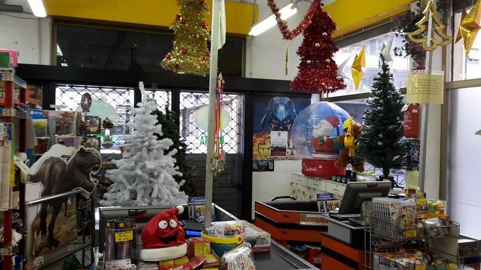 Il negozio a Natale