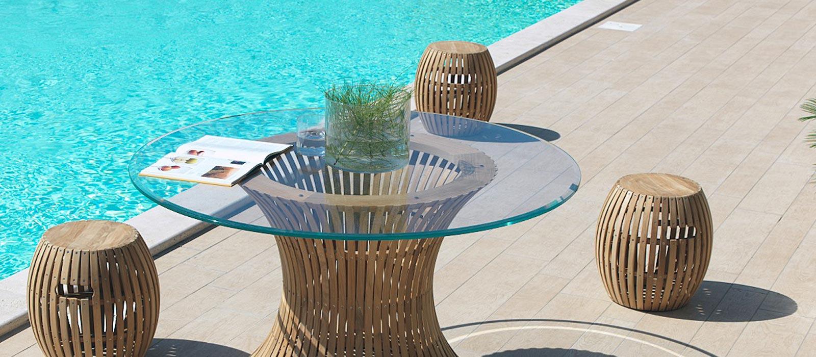 Tavolo vetro da giardino a Salerno da Montella Prisma Arredo