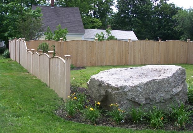 Double T Fence Norway Me Red Cedar