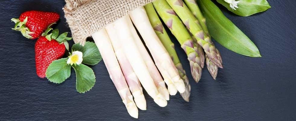 fragole e asparagi